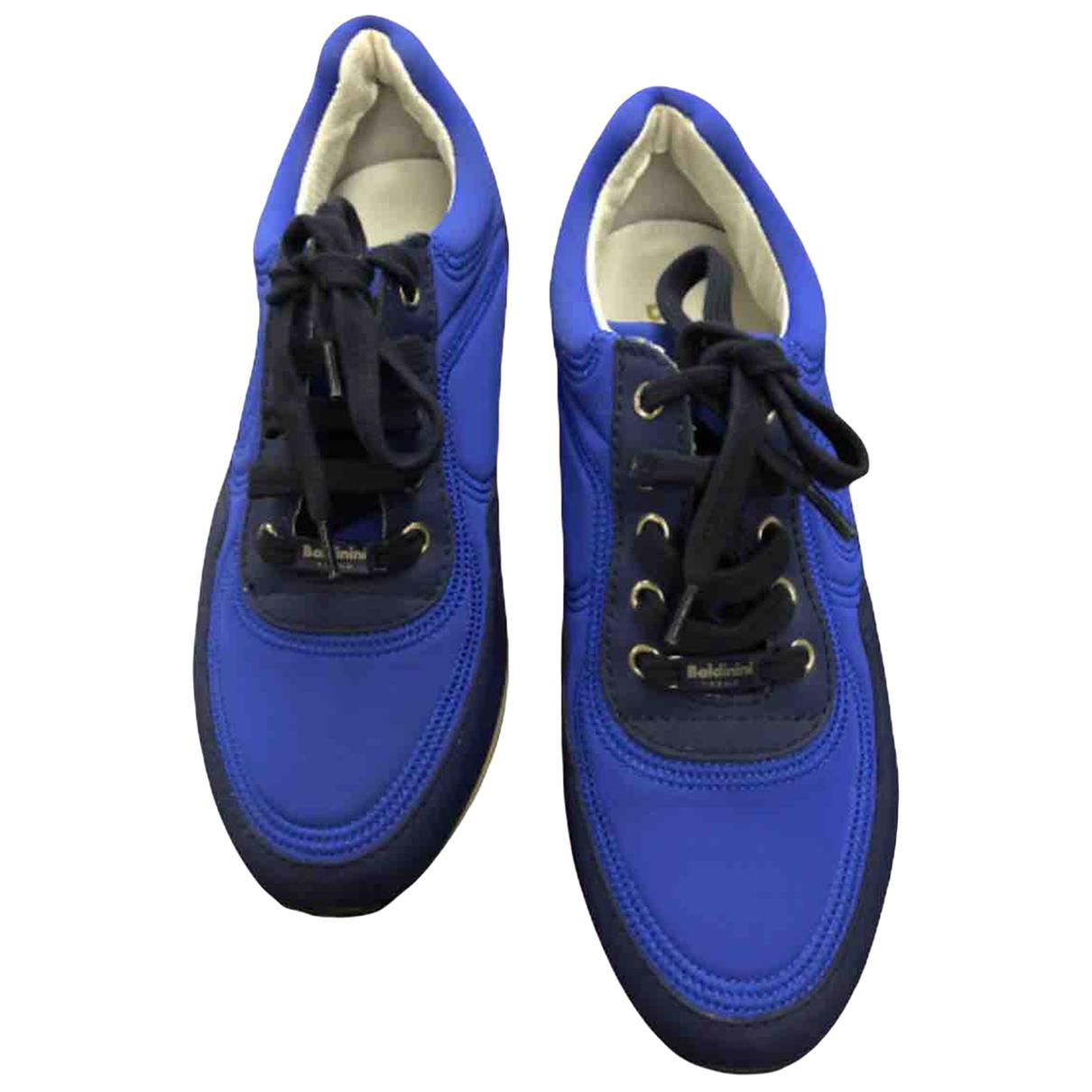 Baldinini N Blue Cloth Trainers for Women 36 EU
