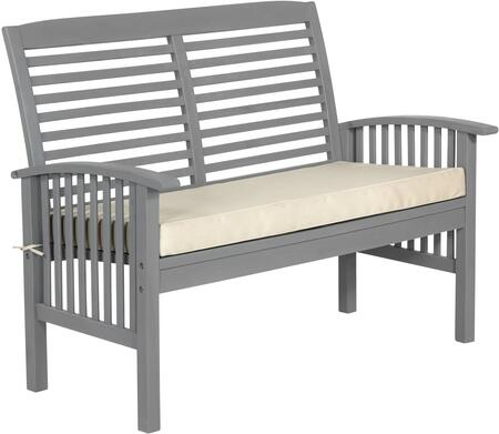 OWLSGW Outdoor Love Seat with Cushion in Grey