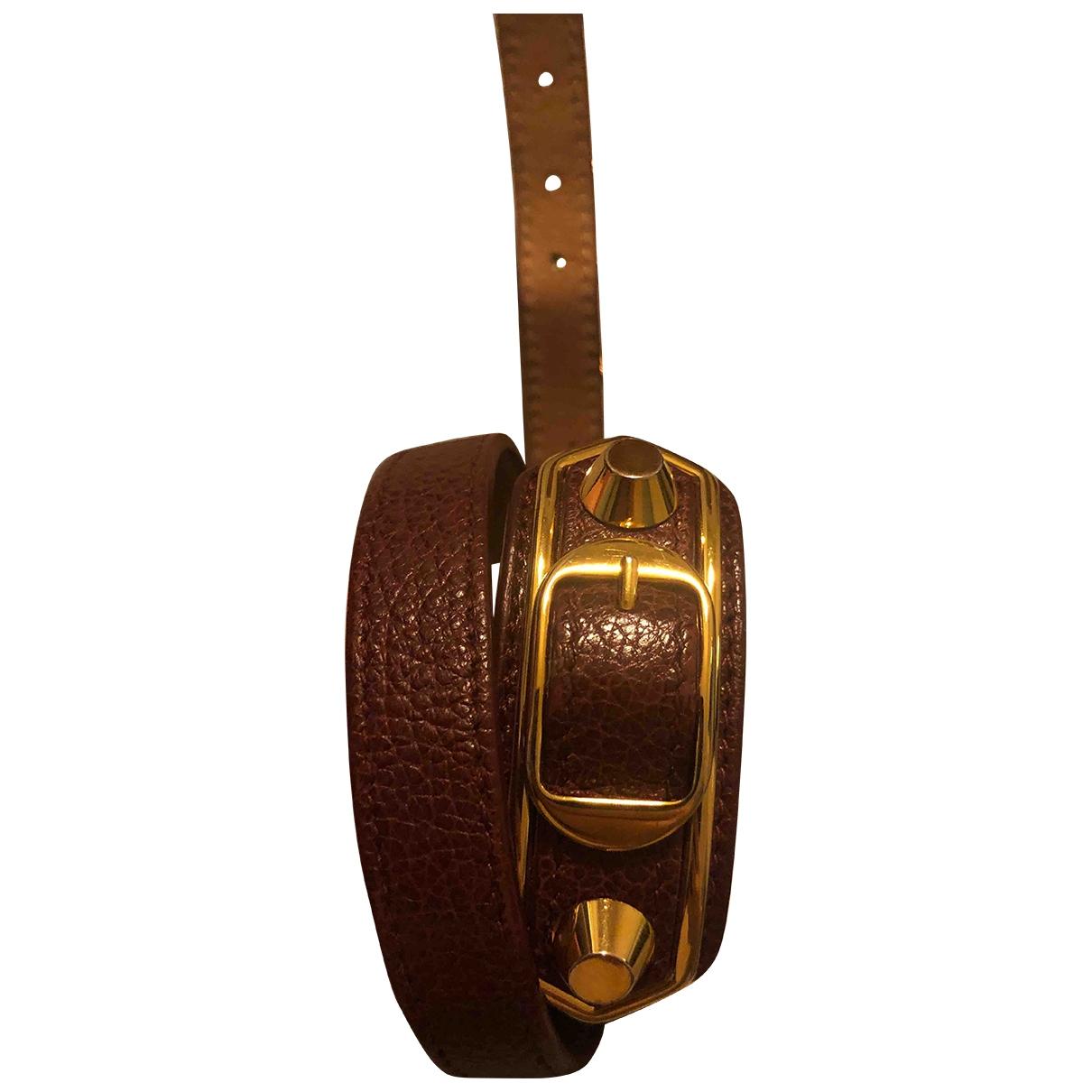 Balenciaga \N Burgundy Exotic leathers bracelet for Women \N