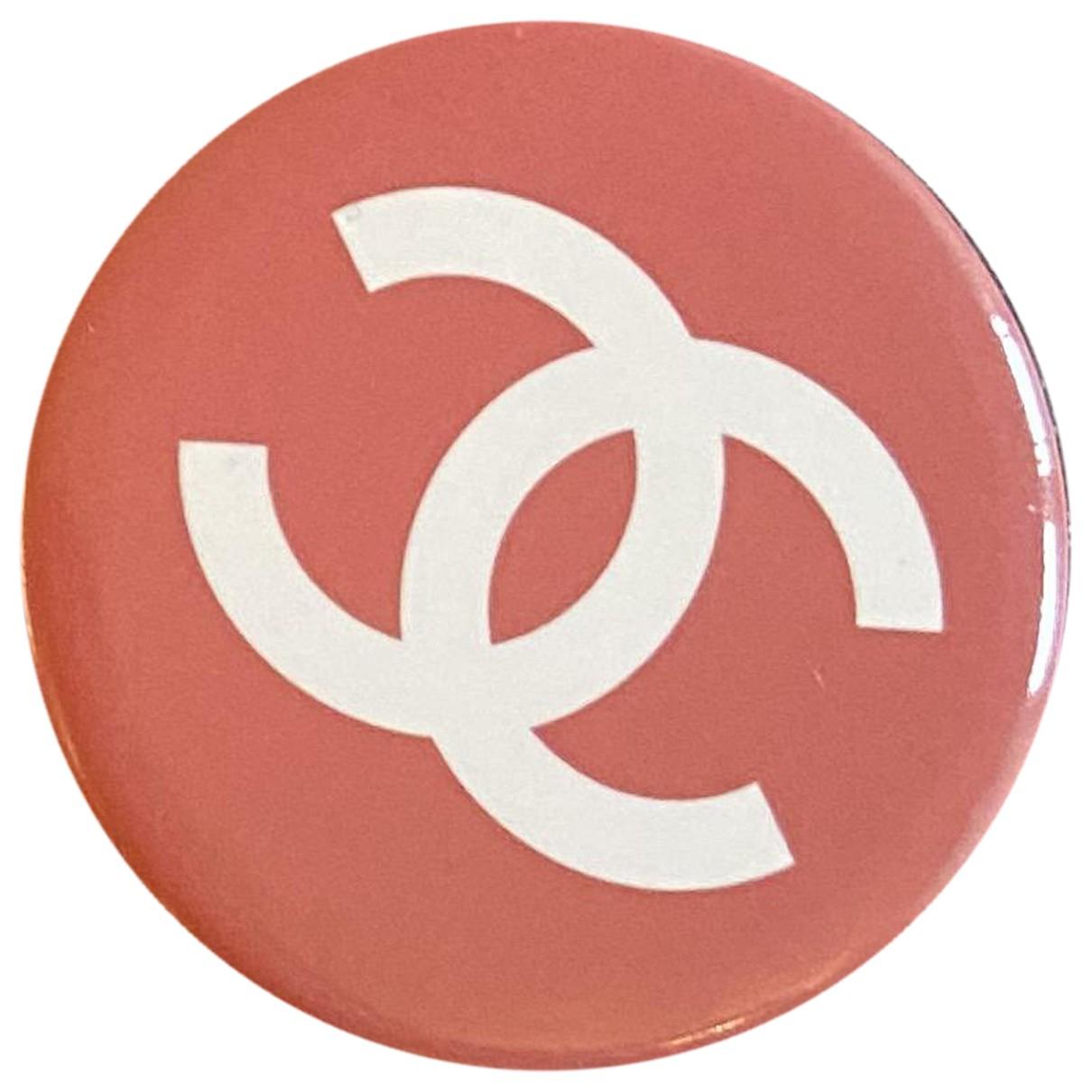 Broche CC en Acero Rosa Chanel