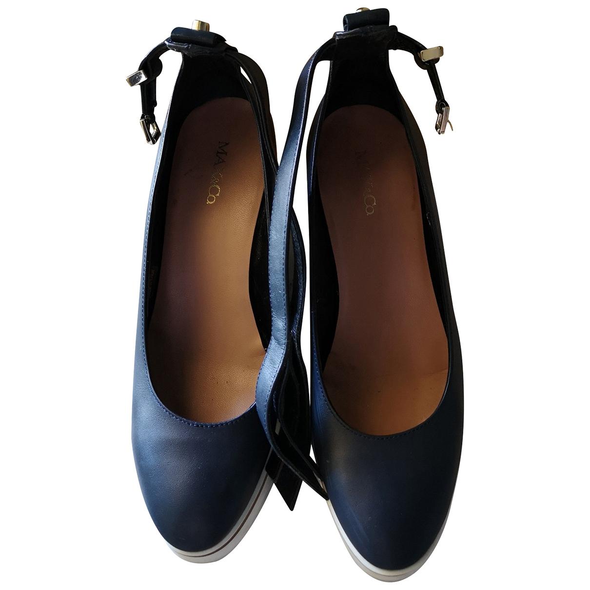 Max & Co \N Sandalen in  Blau Leder