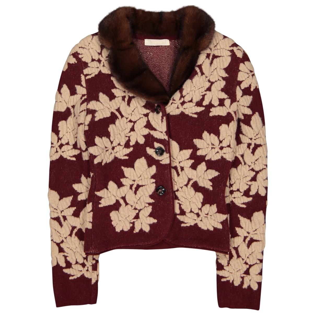 Valentino Garavani \N Pullover in  Bordeauxrot Wolle