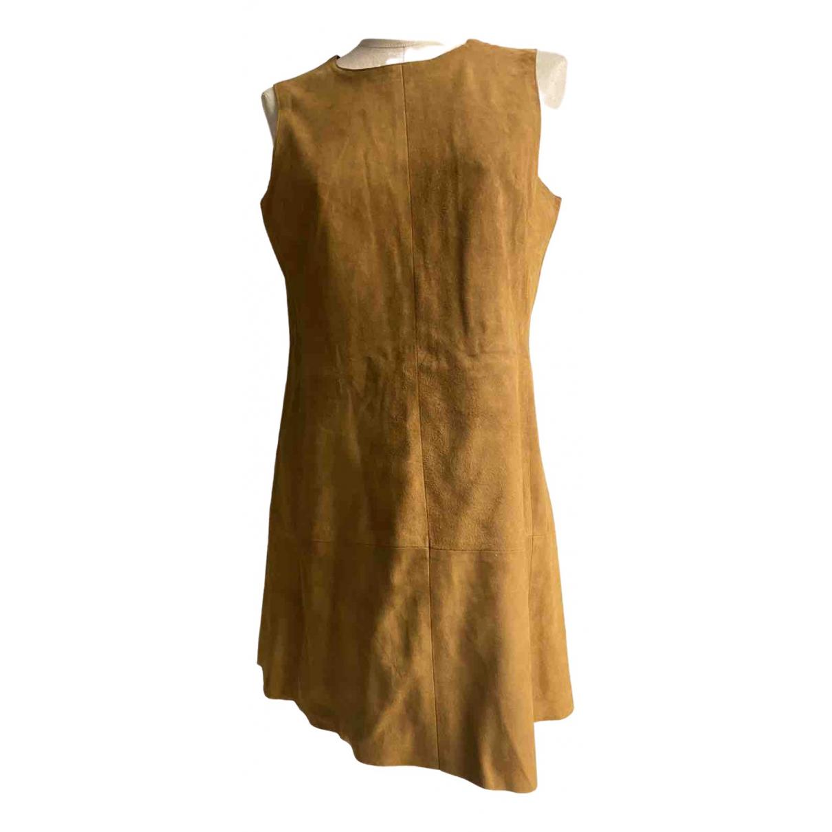 Balenciaga \N Kleid in  Kamel Veloursleder