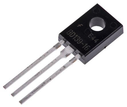 ON Semiconductor ON Semi BD13916STU NPN Transistor, 1.5 A, 80 V, 3-Pin TO-126 (10)