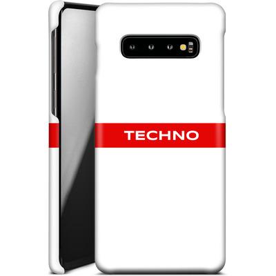 Samsung Galaxy S10 Plus Smartphone Huelle - RED LINE von Berlin Techno Collective