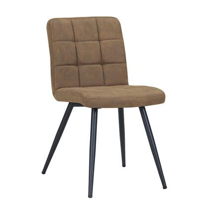 Bradford Collection BR9000-SM Accent Chair with Tufted Foam Filled Cushion  Powder Coated Metal Tapered Legs and Velvet Fabric Upholstery in Smoke