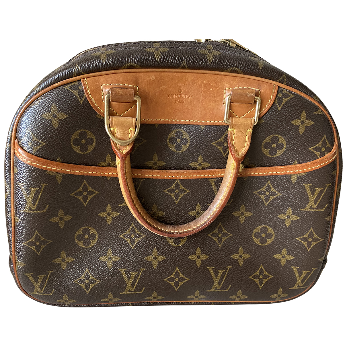 Louis Vuitton Trouville Handtasche in  Braun Leinen