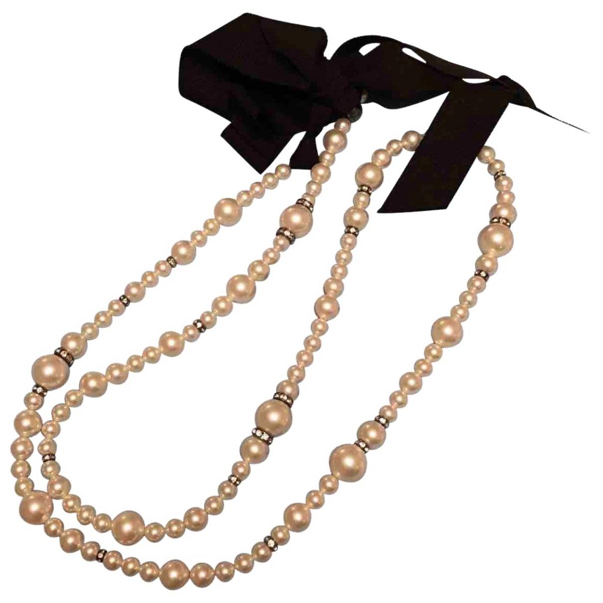 Lanvin - Sautoir   pour femme en perle - blanc