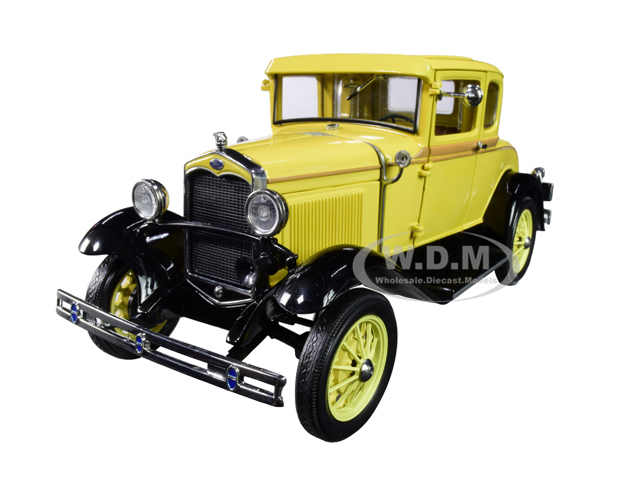 1931 Ford Model A Coupe Bronson Yellow 1/18 Diecast Model Car by SunStar