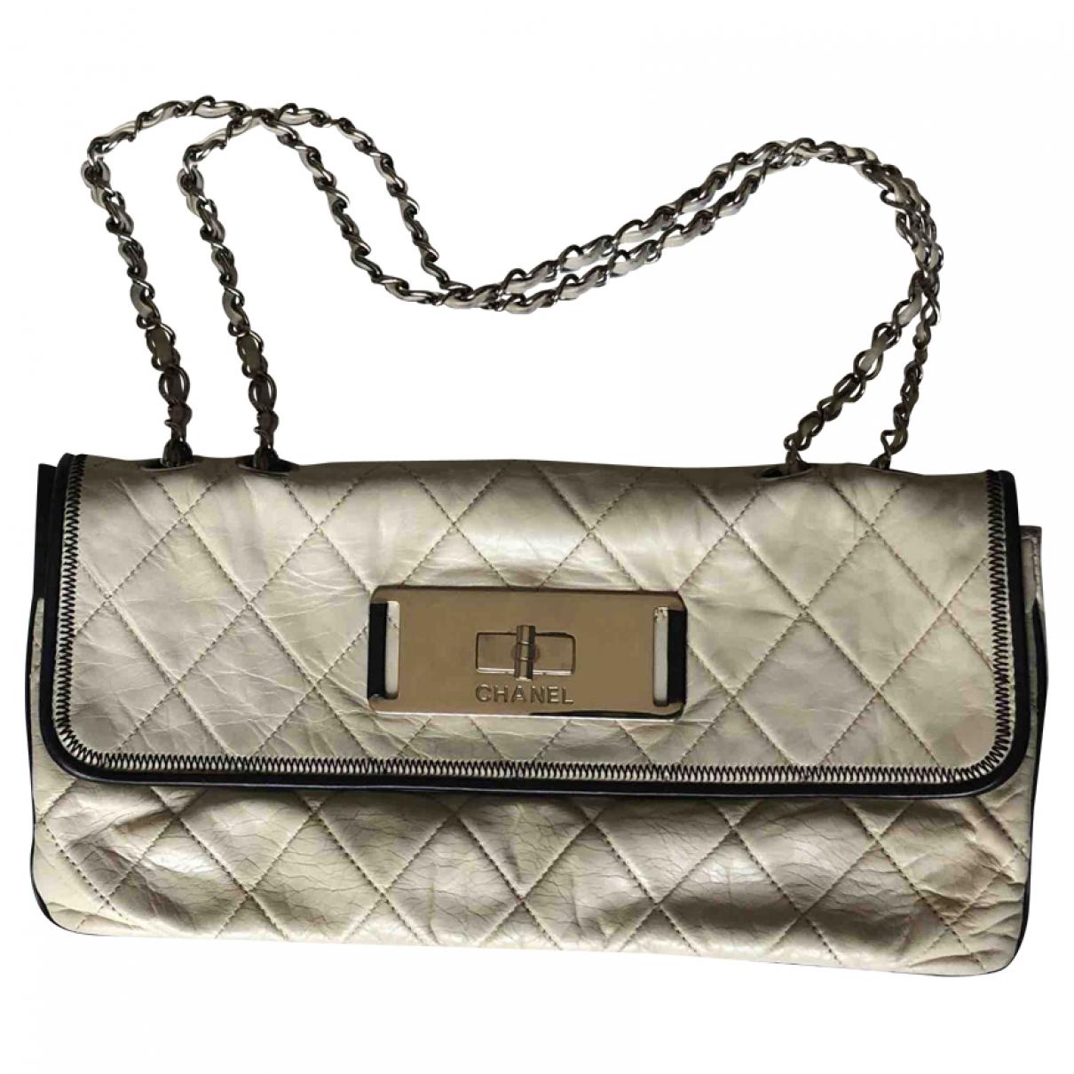 Chanel - Sac a main 2.55 pour femme en cuir - ecru