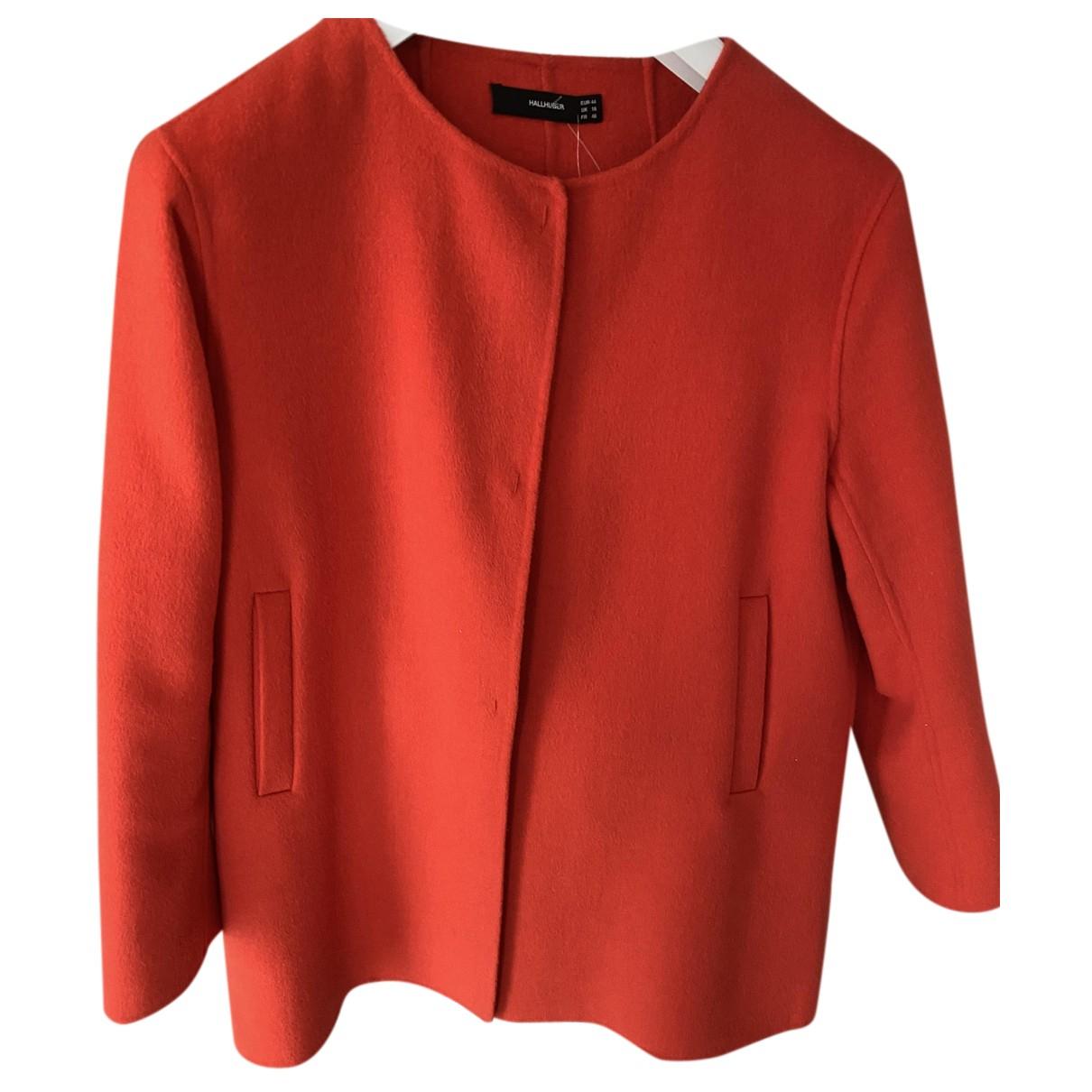 Hallhuber - Veste   pour femme en laine - orange