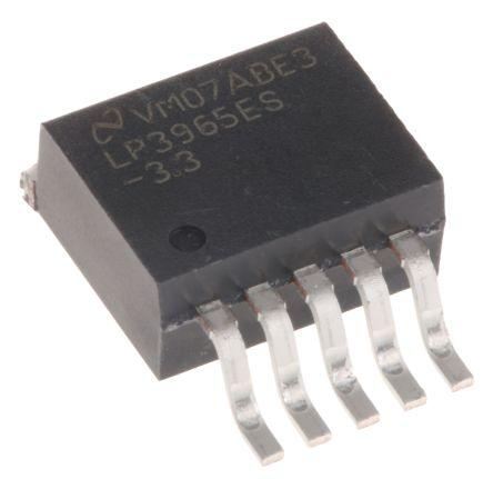 Texas Instruments LP3965ES-3.3/NOPB, LDO Regulator, 1.5A, 3.3 V, ±1.5% 5-Pin, D2PAK