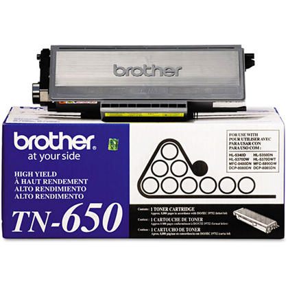 Brother TN650 Original Black Toner Cartridge High Yield