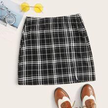 Falda con estampado de cuadros - grande