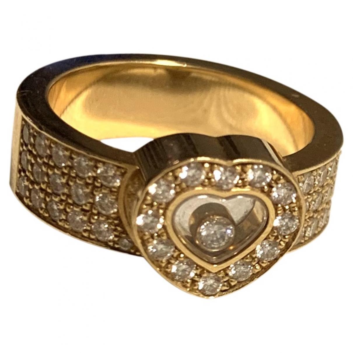 Chopard - Bague Happy Diamonds pour femme en or jaune - jaune
