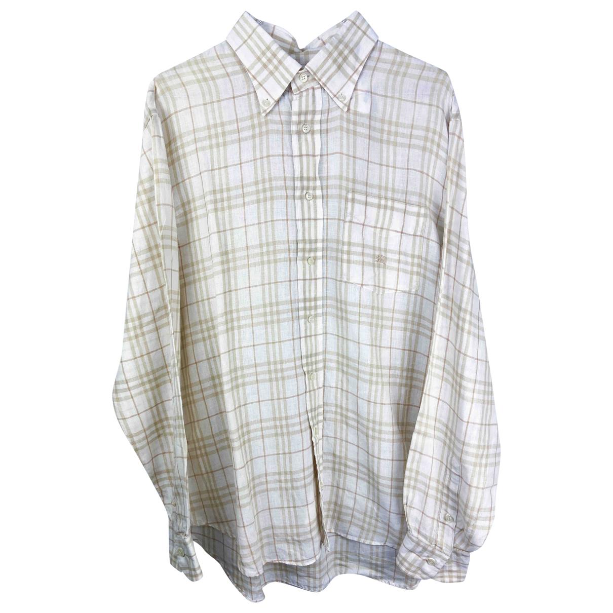 Burberry \N Beige Linen Shirts for Men L International
