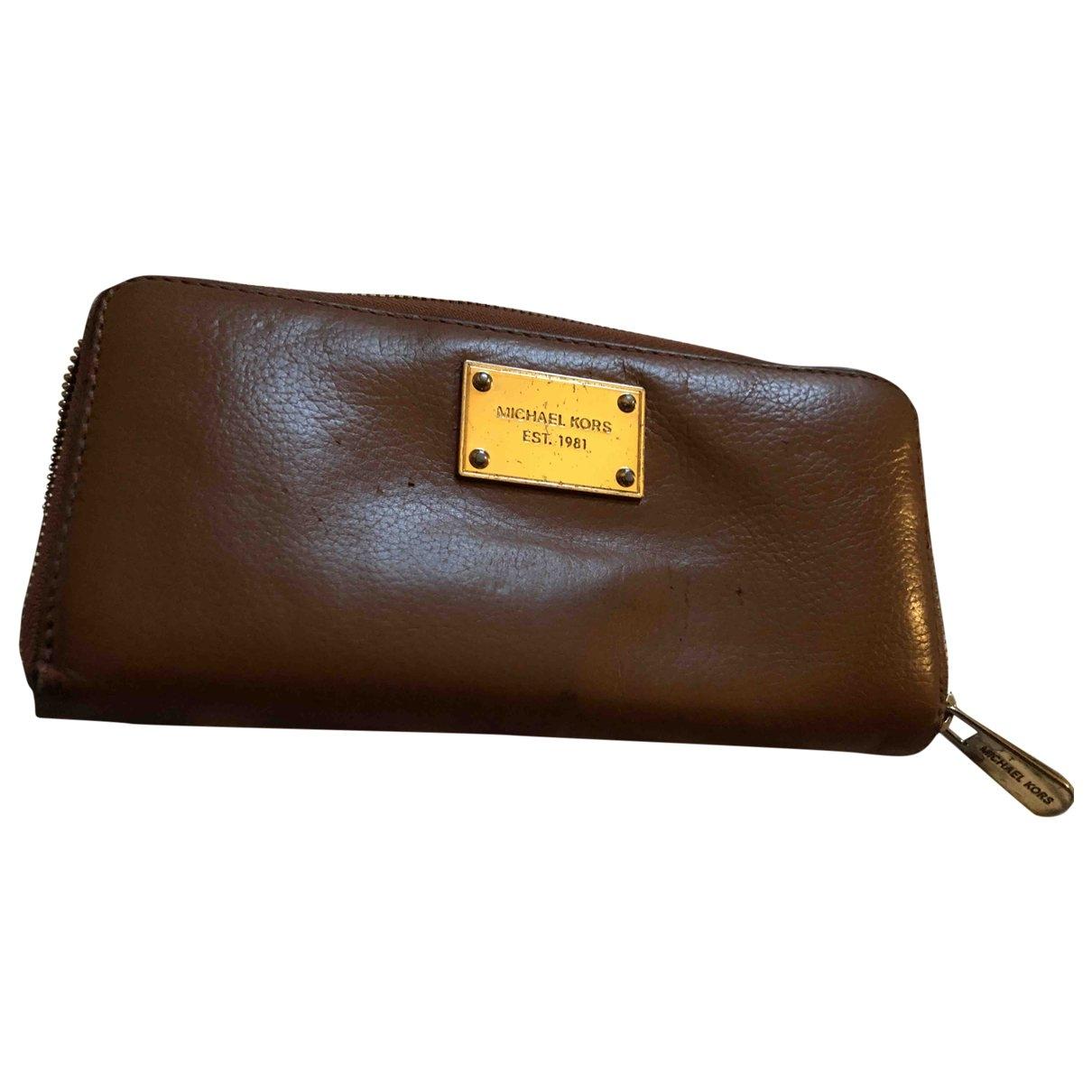 Michael Kors \N Brown Leather wallet for Women \N