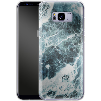 Samsung Galaxy S8 Plus Silikon Handyhuelle - Blue Sea Marble von Emanuela Carratoni