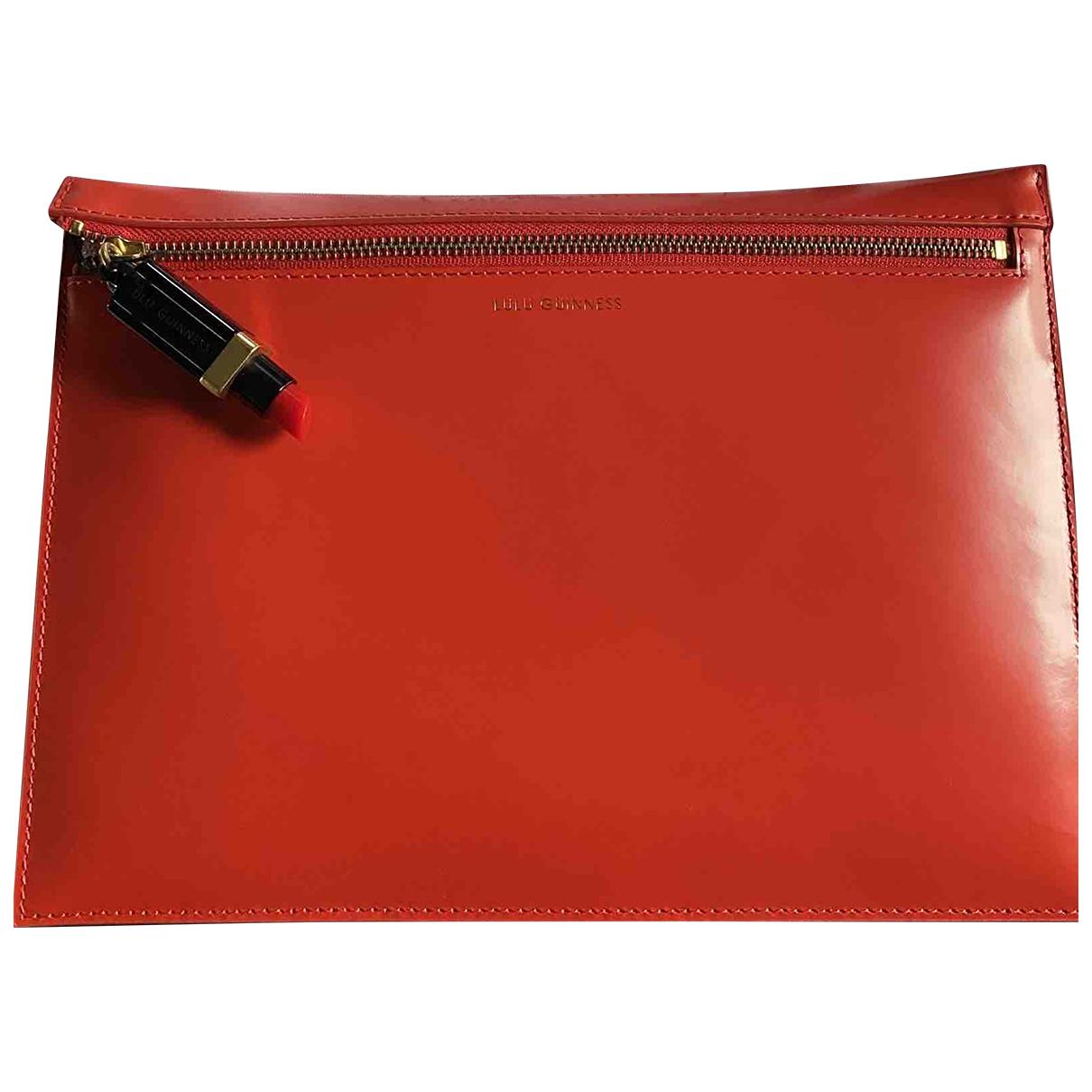 Lulu Guinness \N Clutch in  Rot Leder