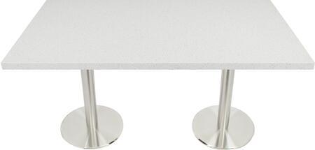 Q403 30X48-SS14-23D 30x48 Snow White Quartz Tabletop with 23