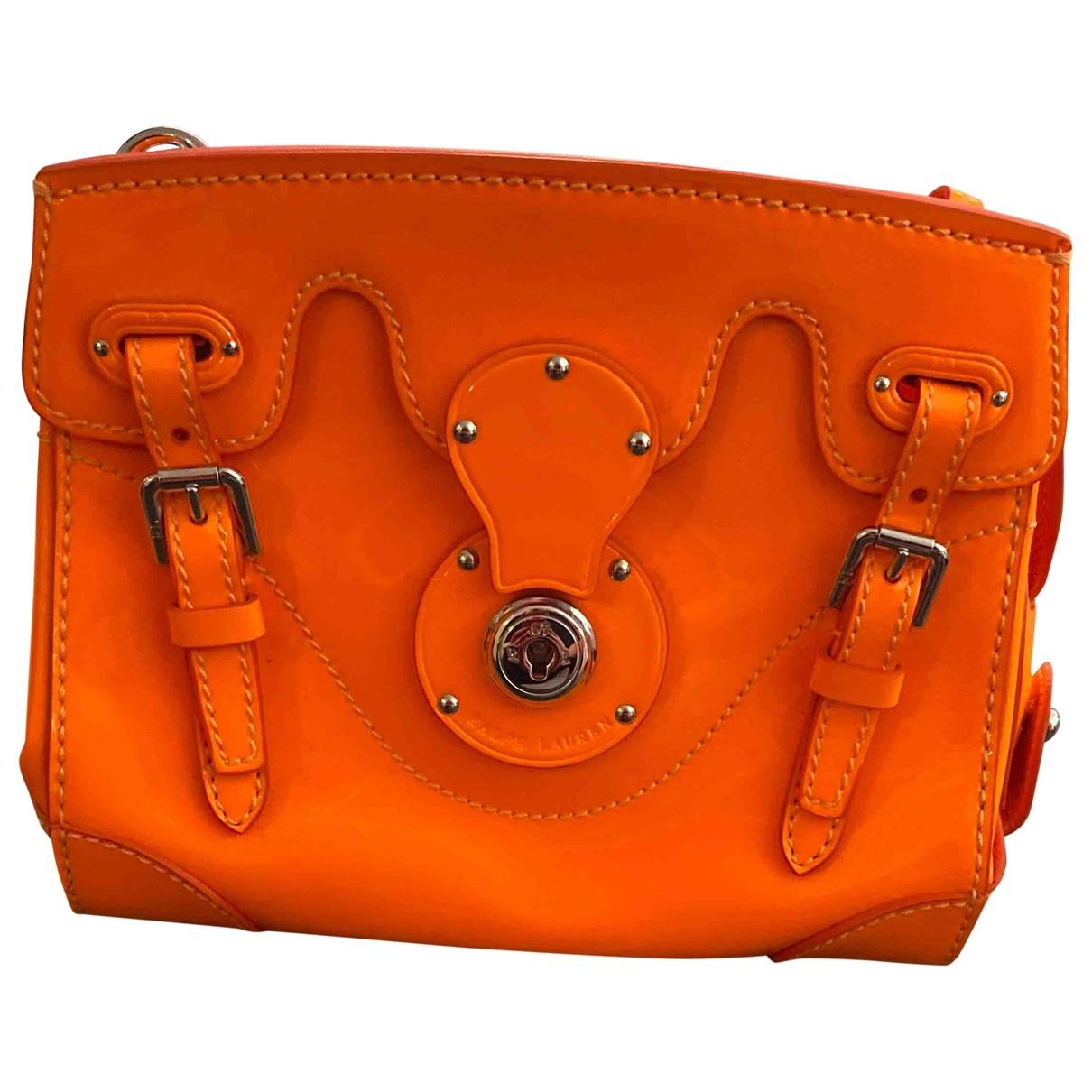 Ralph Lauren Collection Ricky Orange Leather handbag for Women \N