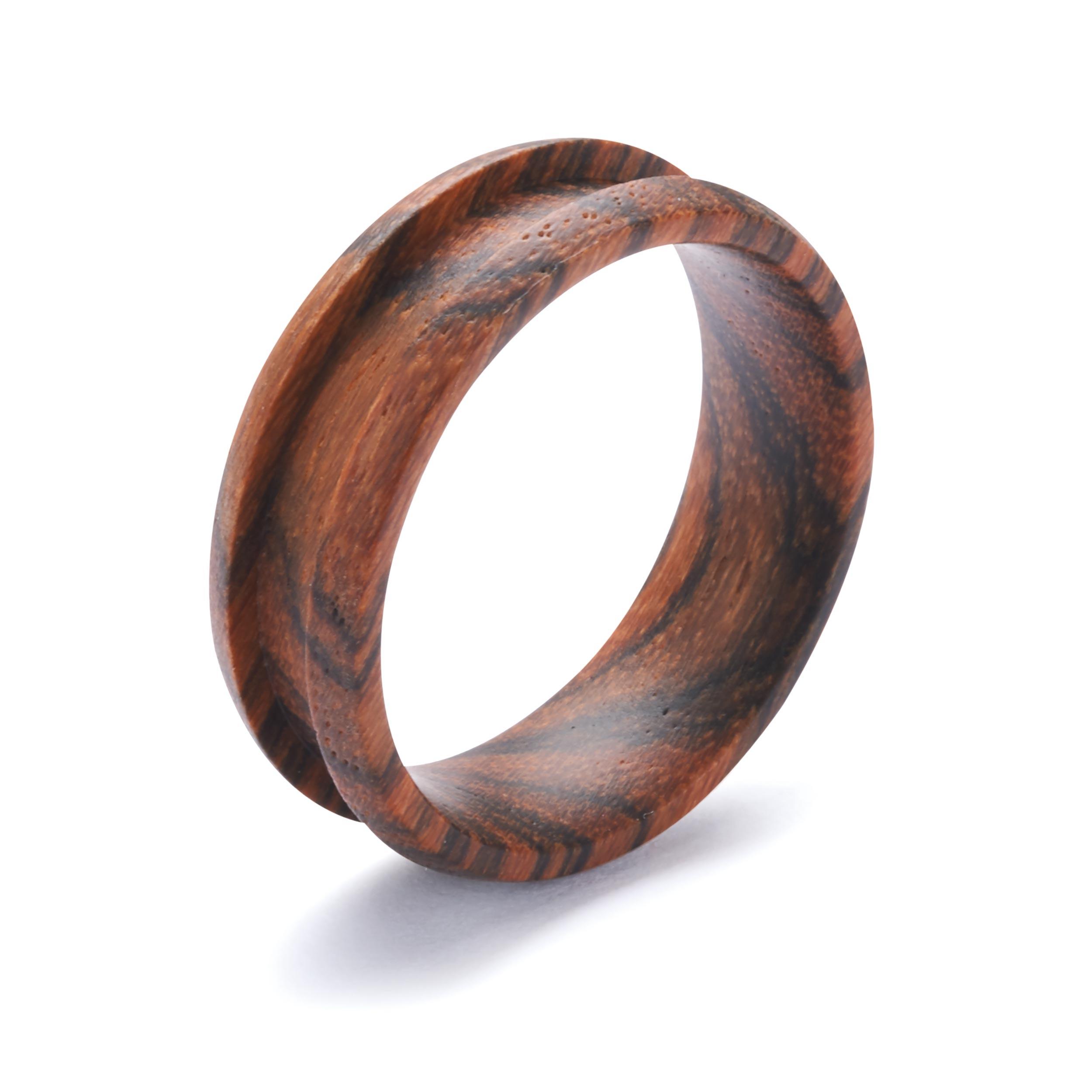 Comfort Ring Core - Bocote - 8mm, Size 12.5