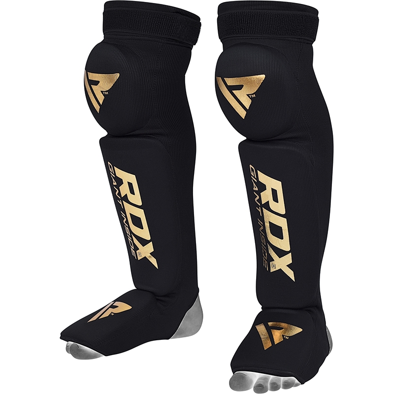 RDX S3 Shin and Knee Support Pads Hosiery Large/Extra Large Black/Golden