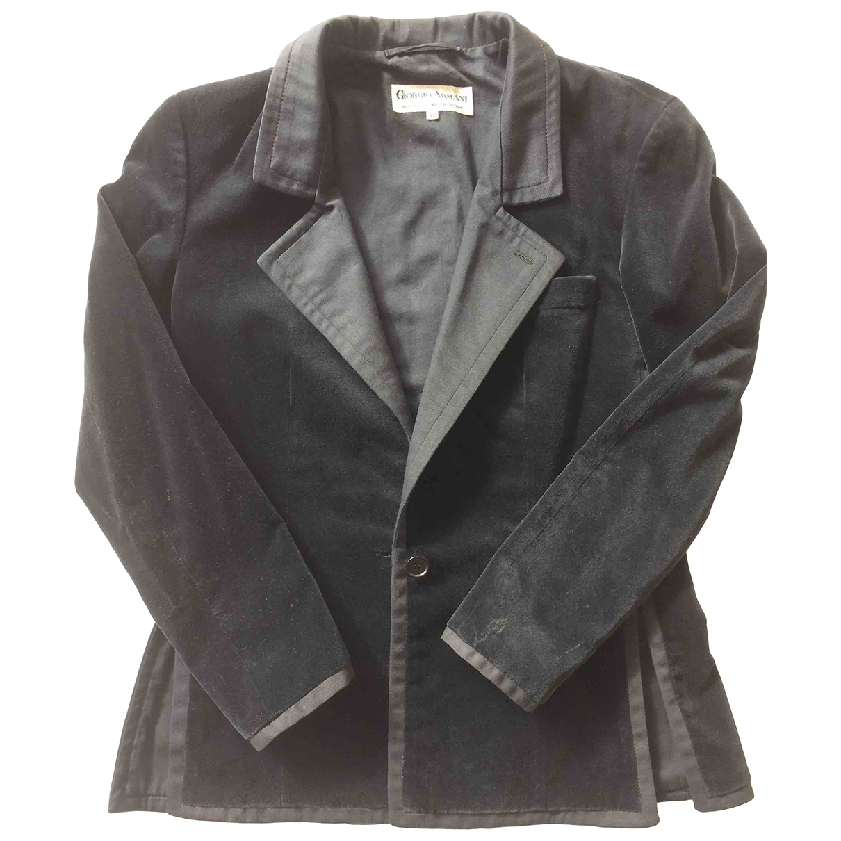 Giorgio Armani - Veste   pour femme en velours - noir