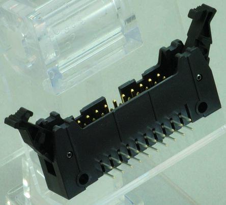 JAE , PS, 16 Way, 2 Row, Right Angle PCB Header
