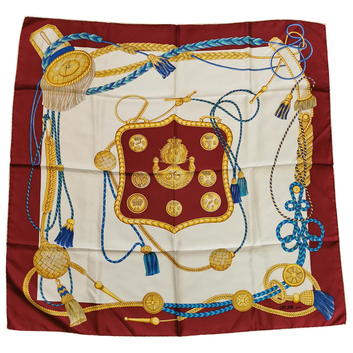 Celine N Burgundy Silk Silk handkerchief for Women N