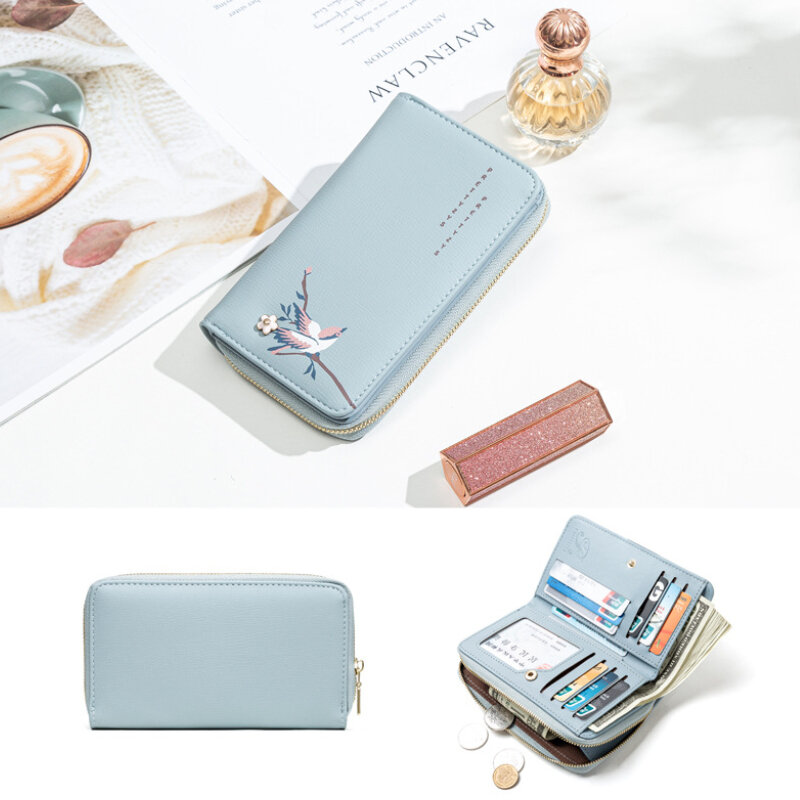 Women PU Leather Ethnic Multi-card Slots Photo Card Phone Bag Money Clip Wallet Coin Purse