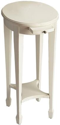 Arielle Collection 1483222 Accent Table with Transitional Style  Oval Shape  Medium Density Fiberboard (MDF) and Poplar Hardwood Solids in Cottage
