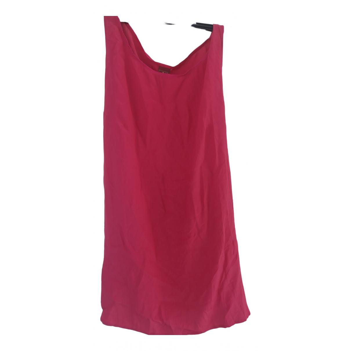 Dondup \N Pink Silk dress for Women 44 IT