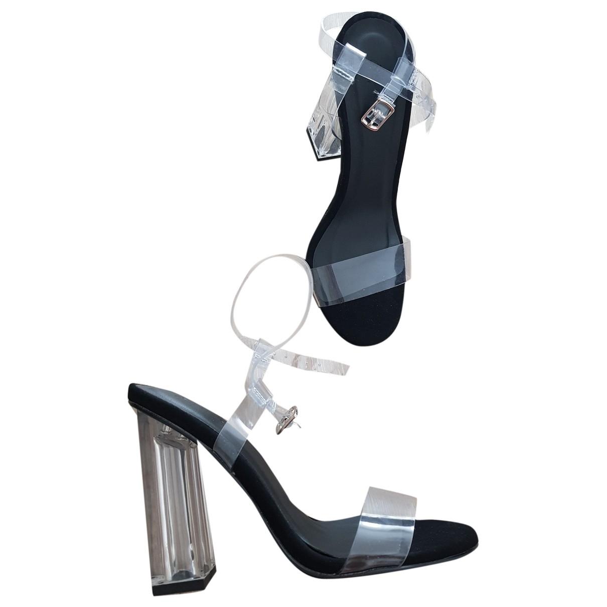 Non Signé / Unsigned \N Black Sandals for Women 36 EU