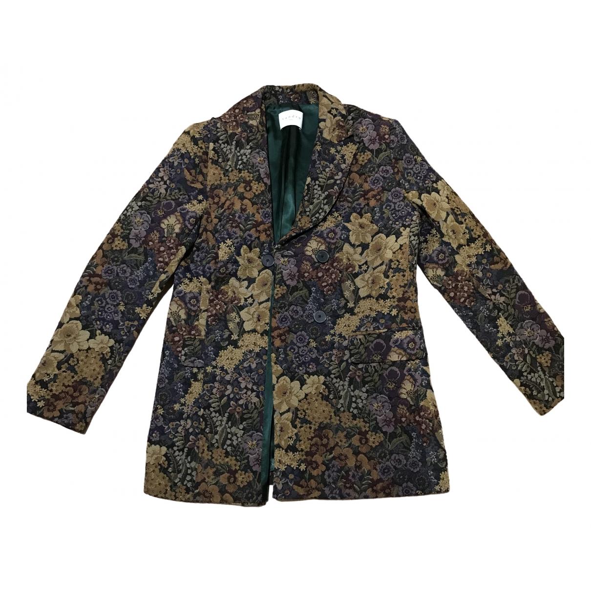 Sandro - Veste   pour femme en laine - multicolore
