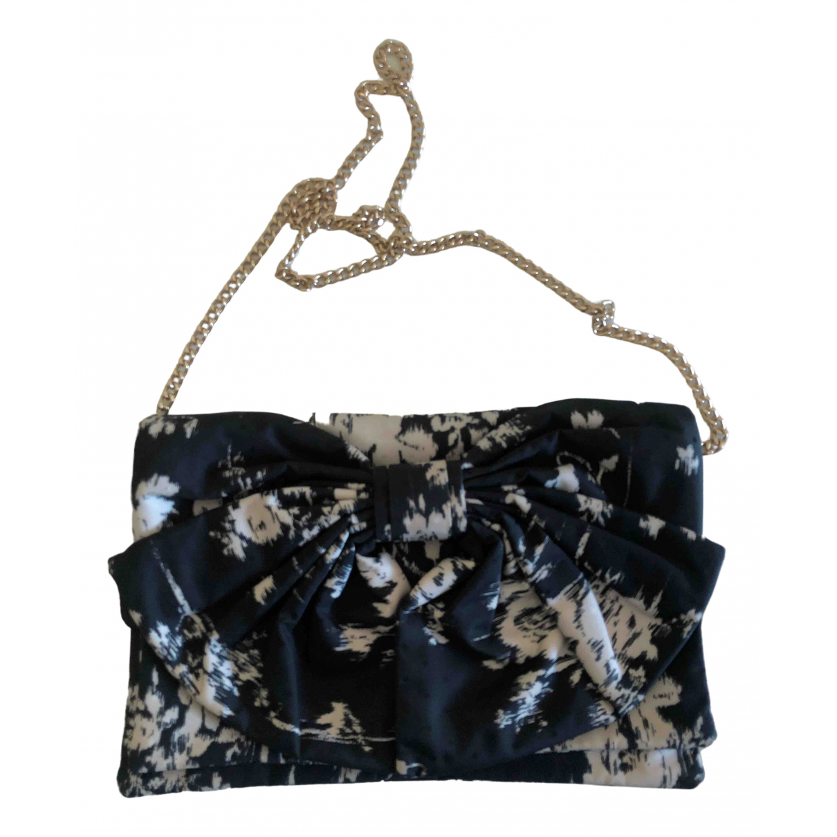 Red Valentino Garavani \N Black Cloth Clutch bag for Women \N