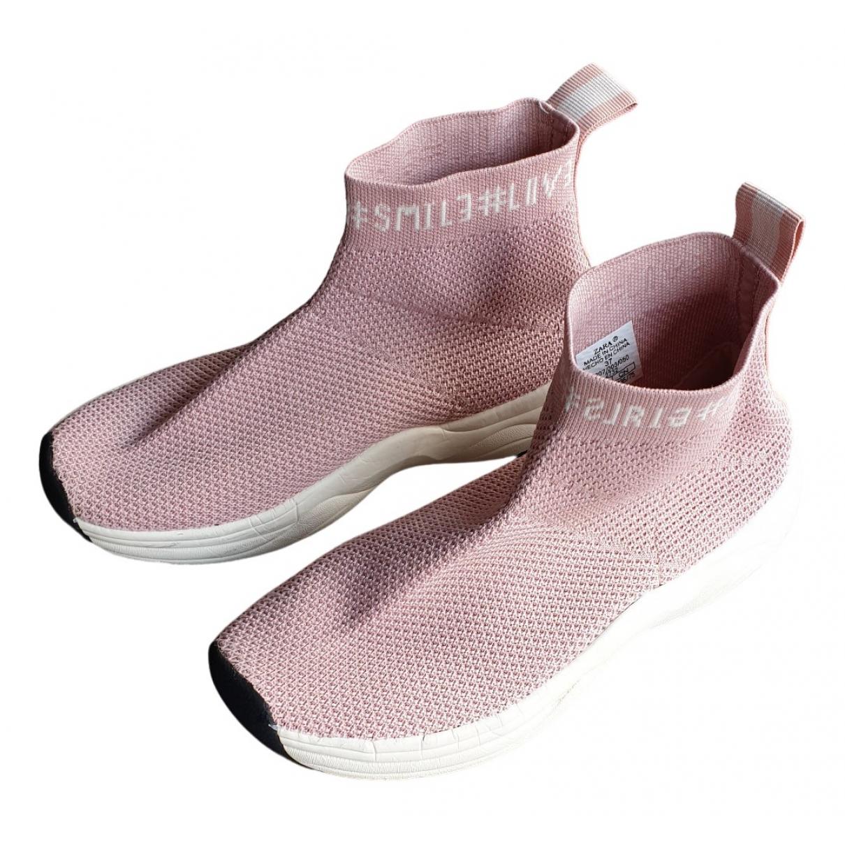 Zara - Baskets   pour enfant - rose