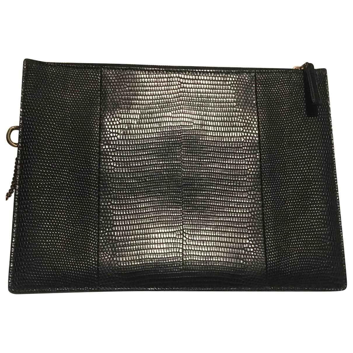 Gucci - Pochette   pour femme en python - noir