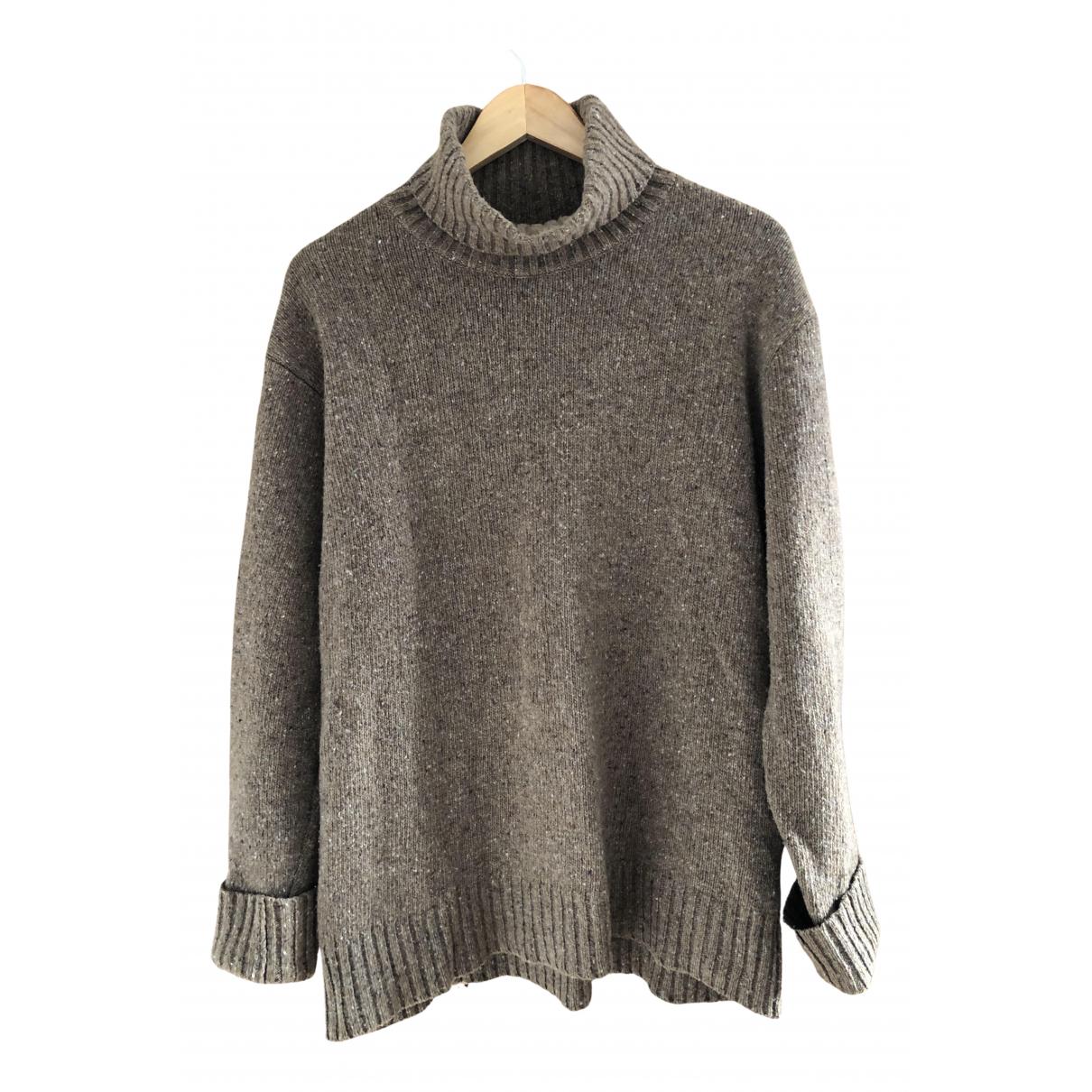 Universal Works \N Pullover.Westen.Sweatshirts  in  Braun Wolle