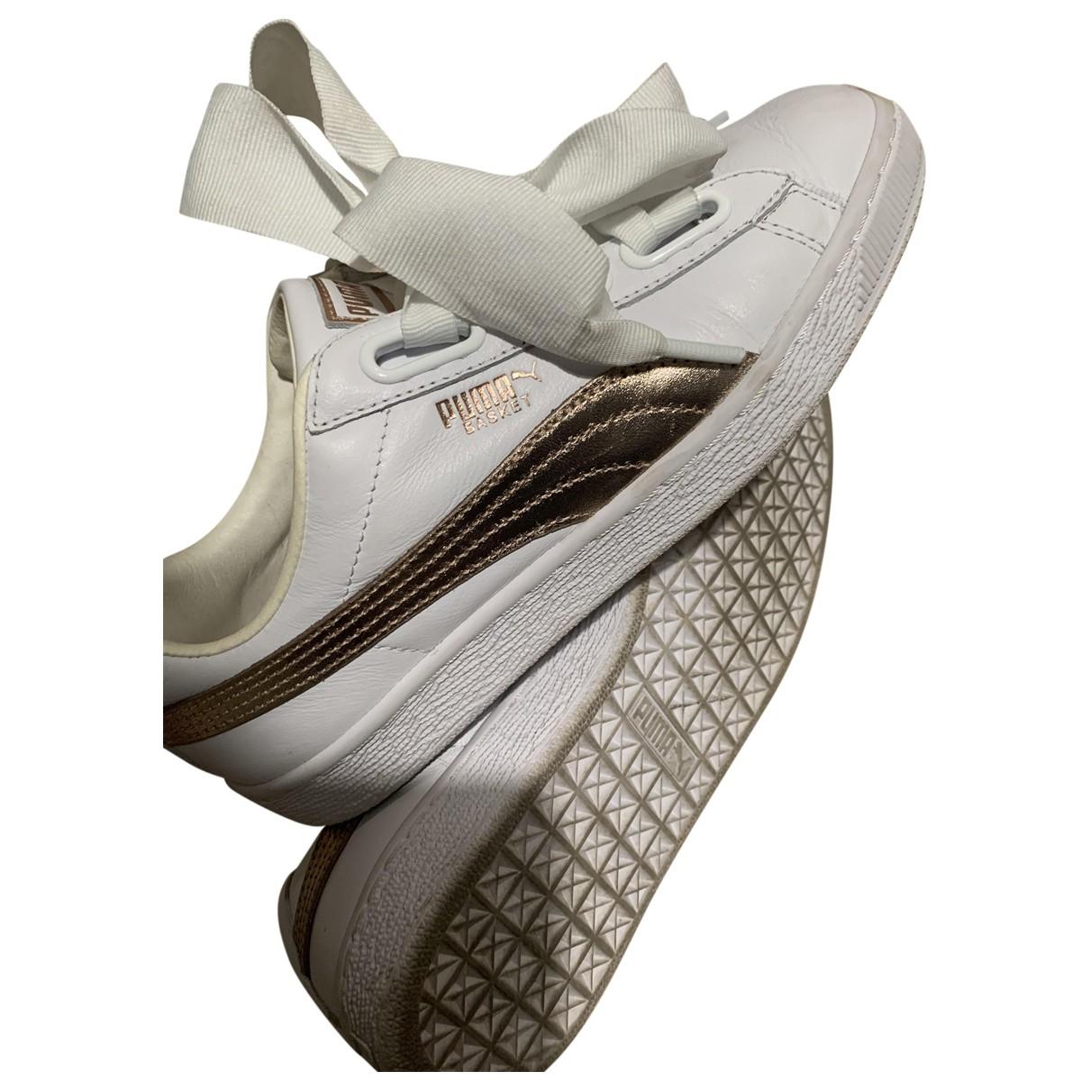 Fenty X Puma \N White Leather Trainers for Women 38 EU