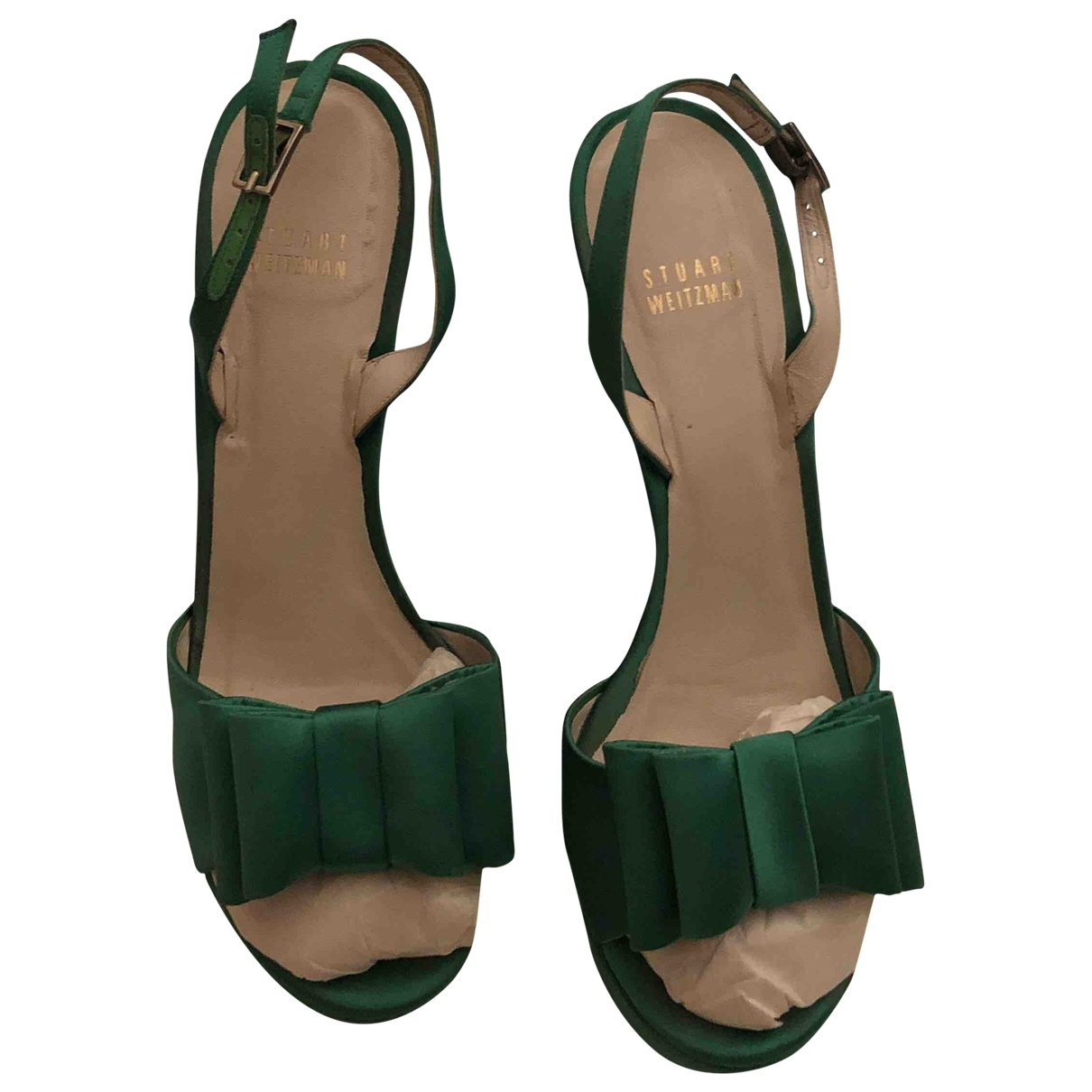 Stuart Weitzman \N Green Cloth Sandals for Women 39 EU
