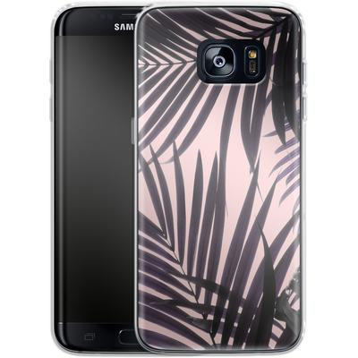 Samsung Galaxy S7 Edge Silikon Handyhuelle - Delicate Jungle Theme von Emanuela Carratoni