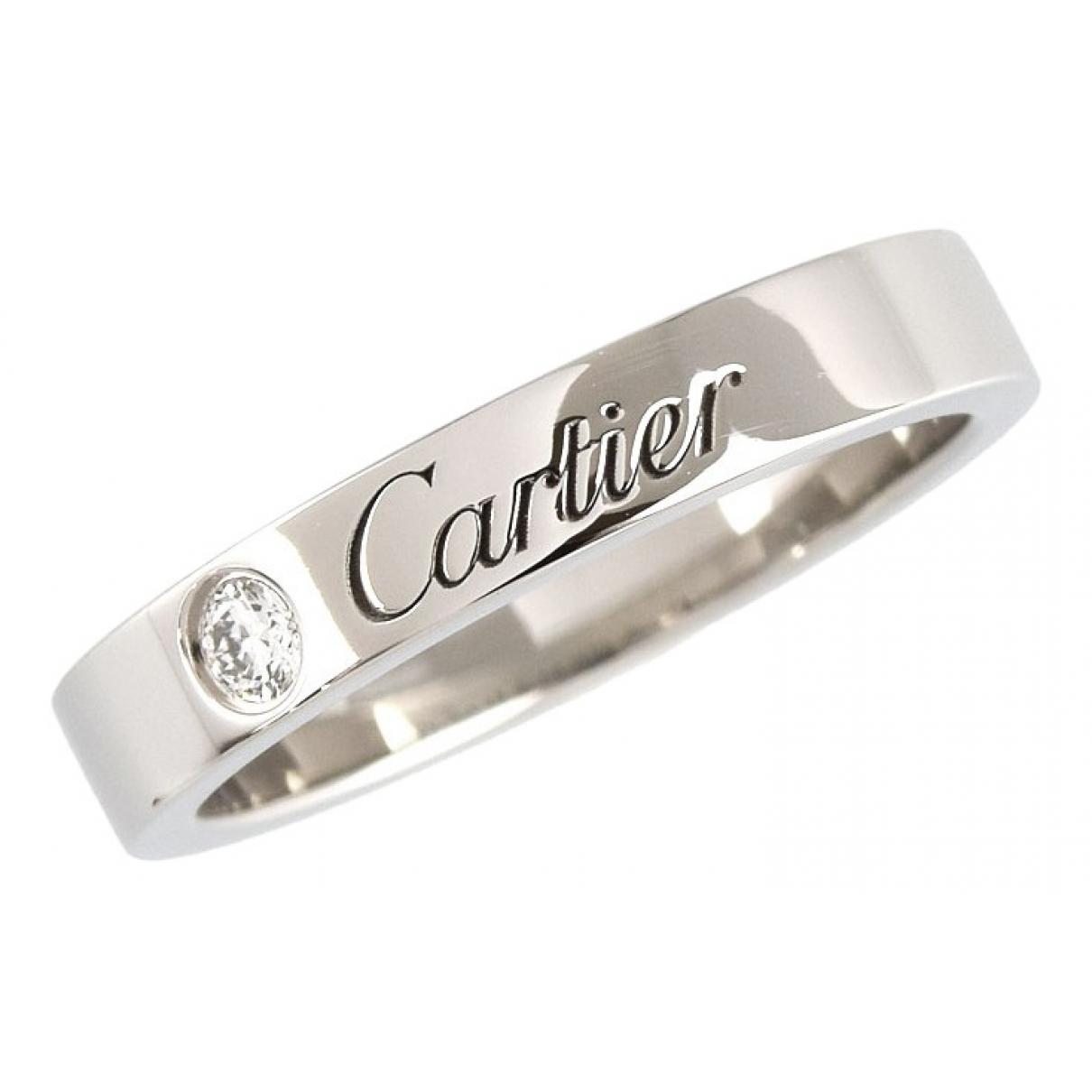 Cartier \N Silver Platinum ring for Women 47 EU