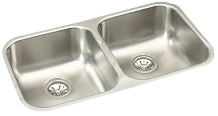 EGUH3118 32 Undermount 18-Gauge Double Bowl Stainless Steel
