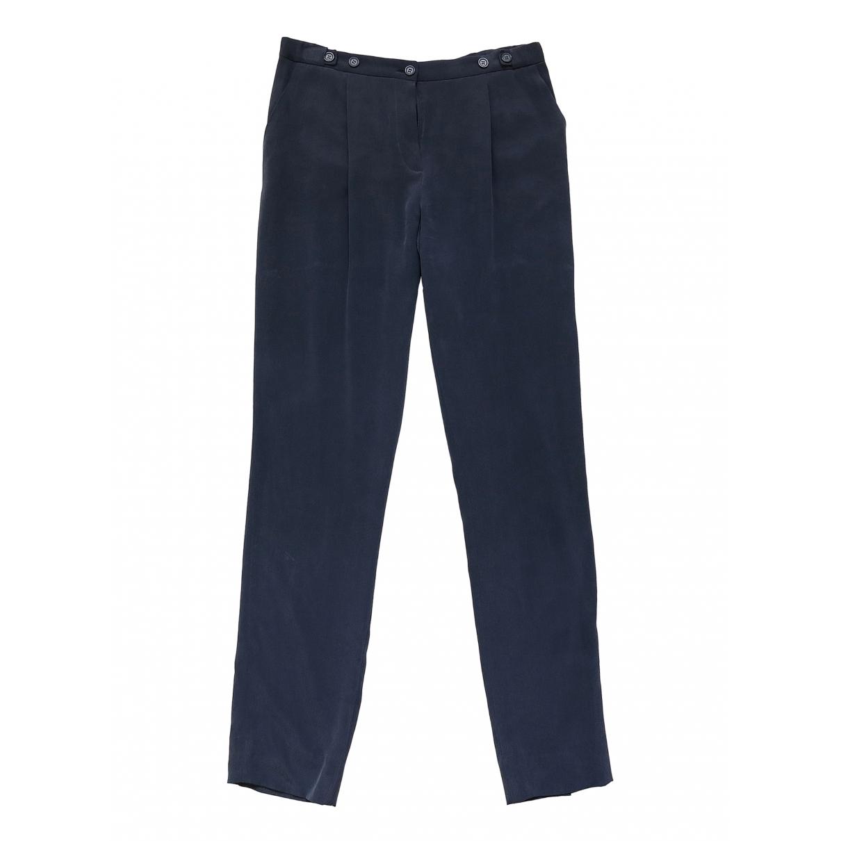Pantalon recto de Seda Emporio Armani