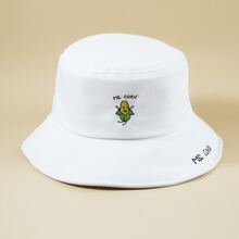 Vegetable Embroidery Bucket Hat