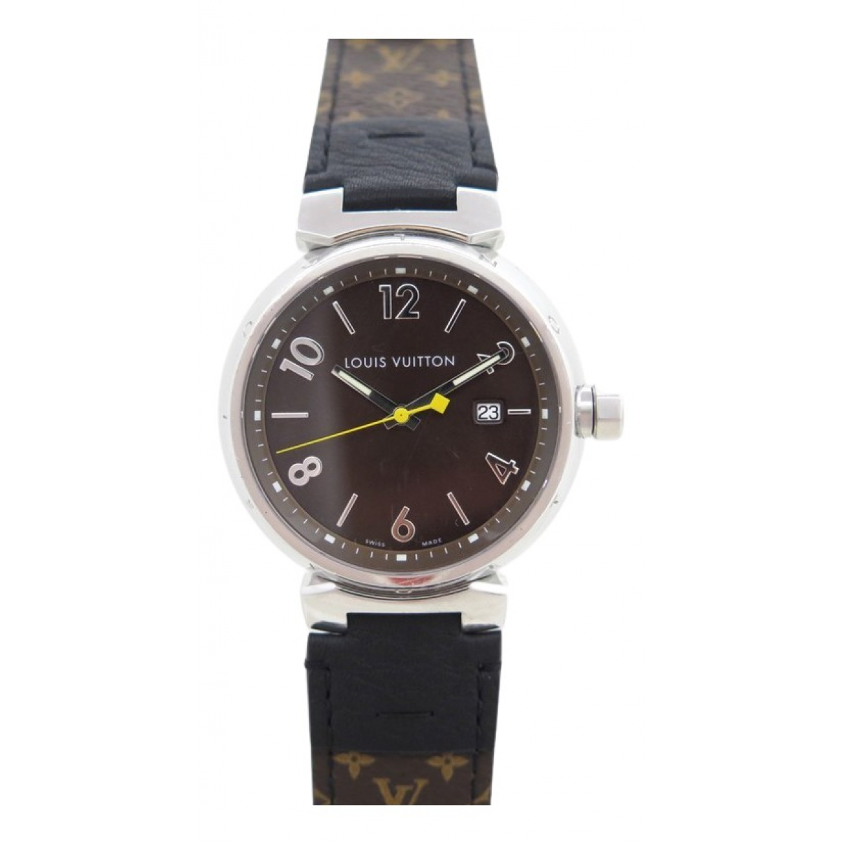 Louis Vuitton Tambour Black Steel watch for Women \N