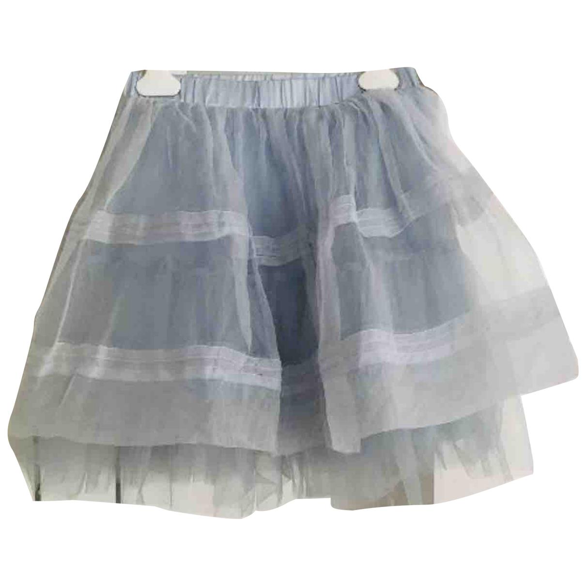 Monnalisa N Blue Silk skirt for Kids 8 years - up to 128cm FR