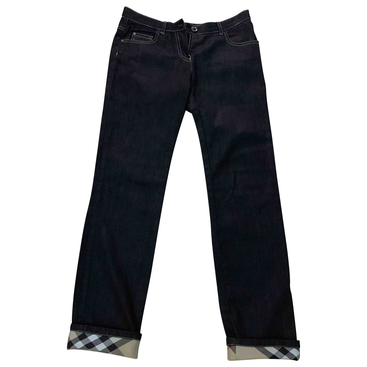 Burberry \N Blue Denim - Jeans Trousers for Kids 12 years - XS FR
