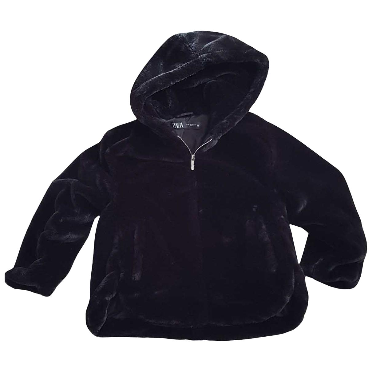 Zara \N Black Faux fur jacket for Women XS International